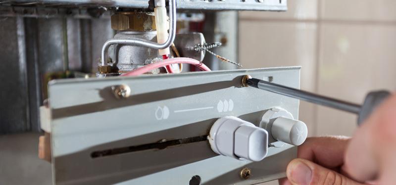 servicing boiler